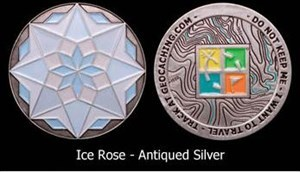 Crake's Ice Rose Geocoin