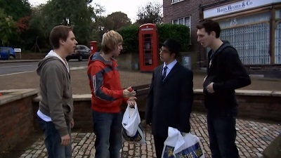 The Inbetweeners in front of A Fine Pair