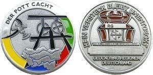 """Regions of Germany"" - Der Pott cacht Geocoin"
