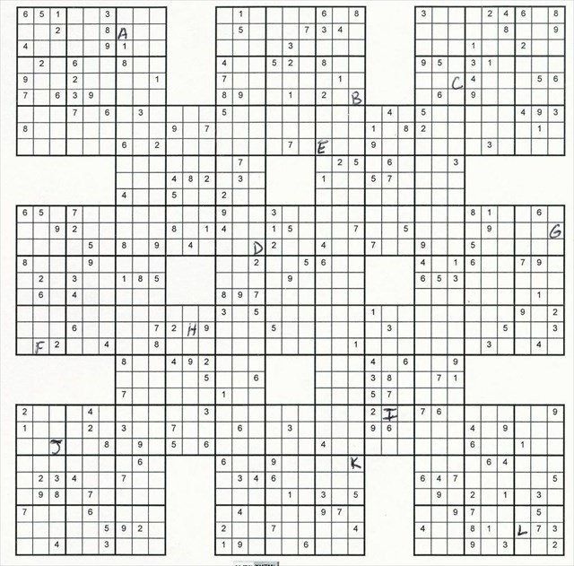 picture regarding Monster Sudoku Printable called Monster Sudoku Puzzles Towards Print
