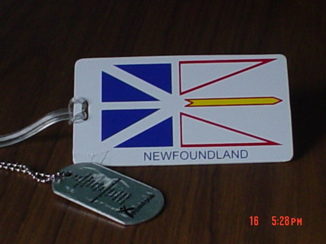 ... ) Travel Bug Dog Tag - Ladybug and Marble's The Newfoundland Flag