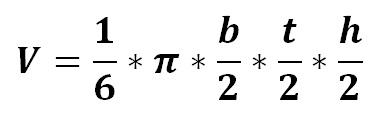 Formel Volumen Halbellipsoid