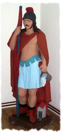Original statue of St. Florian
