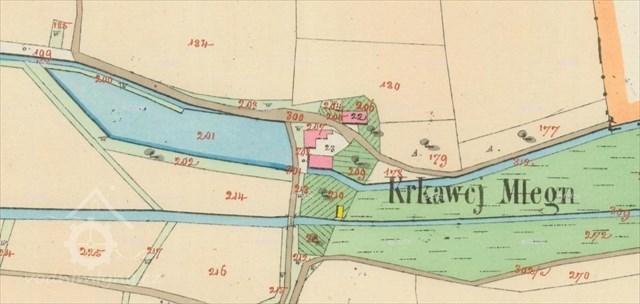 Krkavcí mlýn na mape z roku 1830