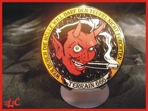 Terain 666 Geocoin Orange Hell Edition LE