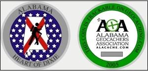 "Alabama ""Heart of Dixie"" Geocoin"