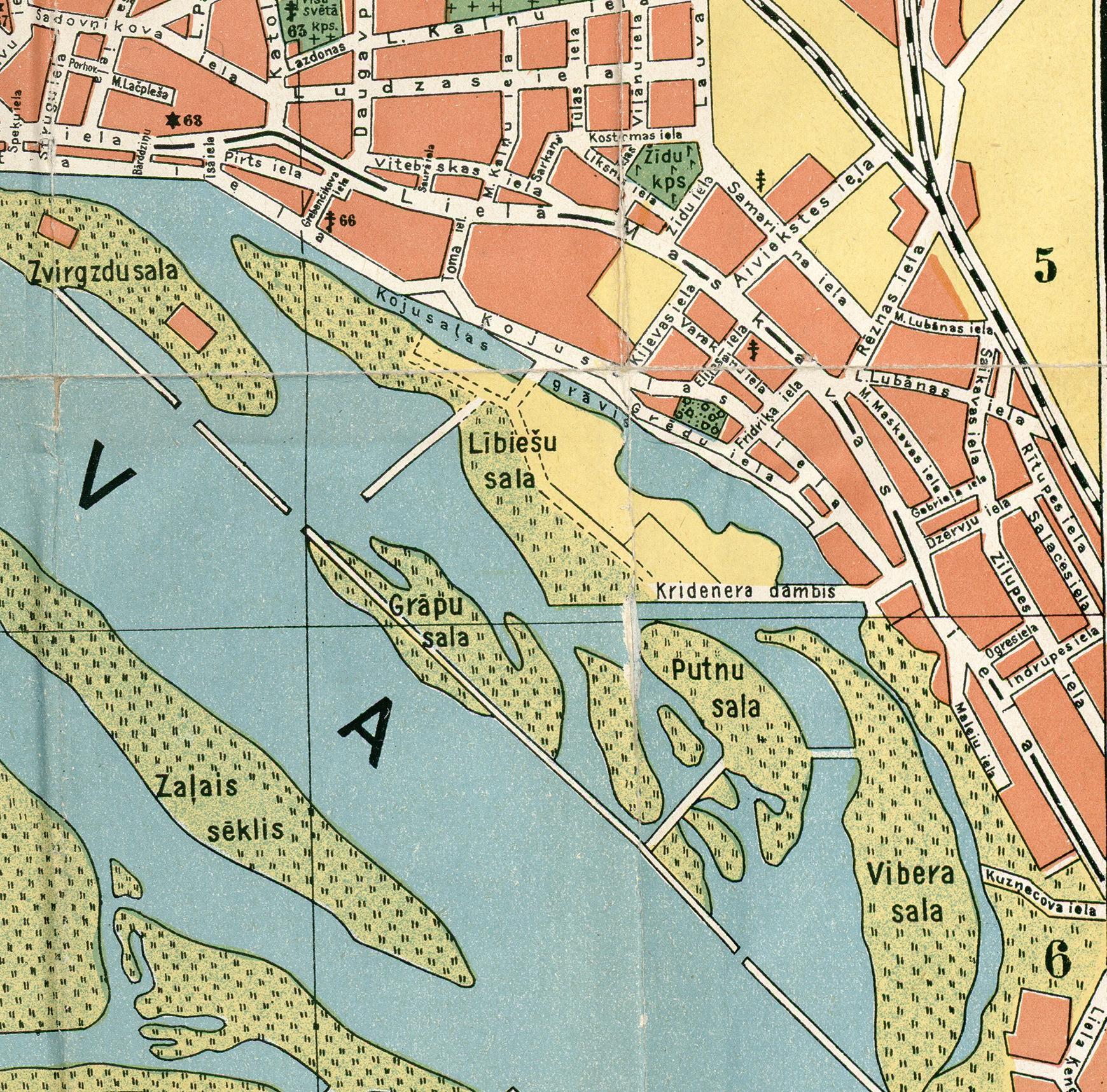 Rīgas karte ar salām