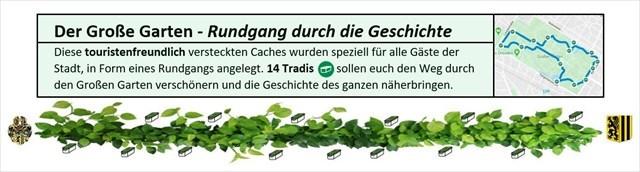 Label-Großer Garten-Rundgang durch die Geschichte