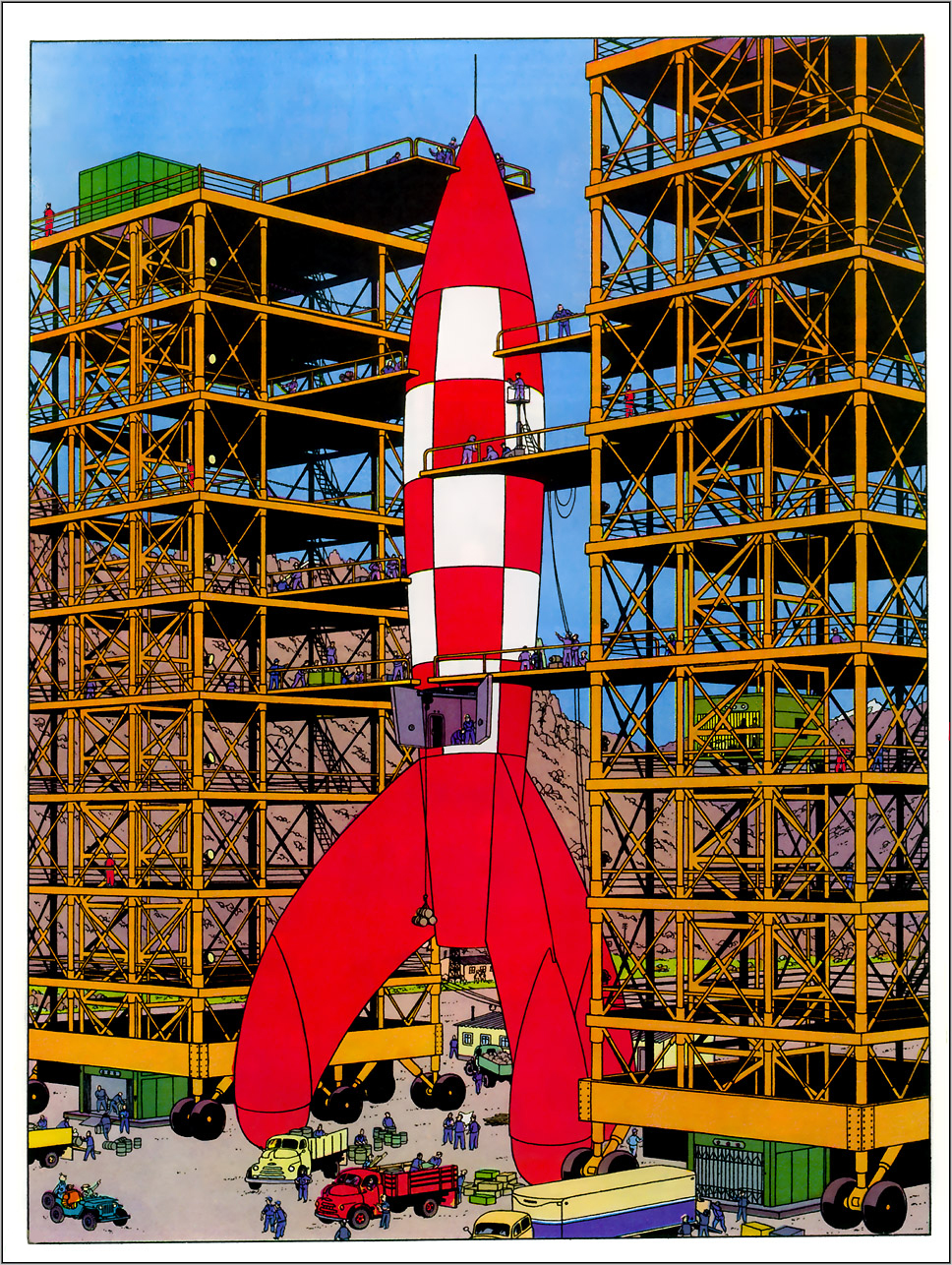 Gc4nf7x objectif lune unknown cache in hauts de france france created by fmo6666 - Fusee de tintin a colorier ...