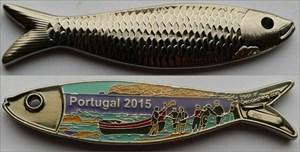 Portugal 2015 Geocoin - Shiny Nickel RE 240