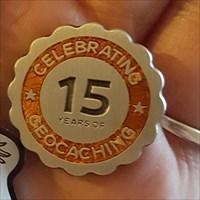 15 yr geocoin