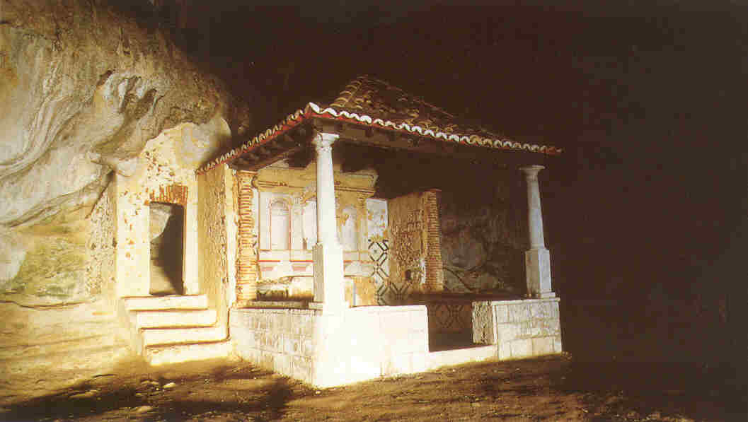 The small church inside the cave