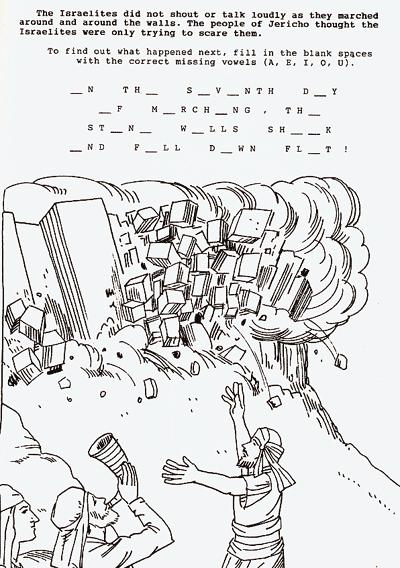 Battle of jericho coloring page coloring pages for Jericho coloring page