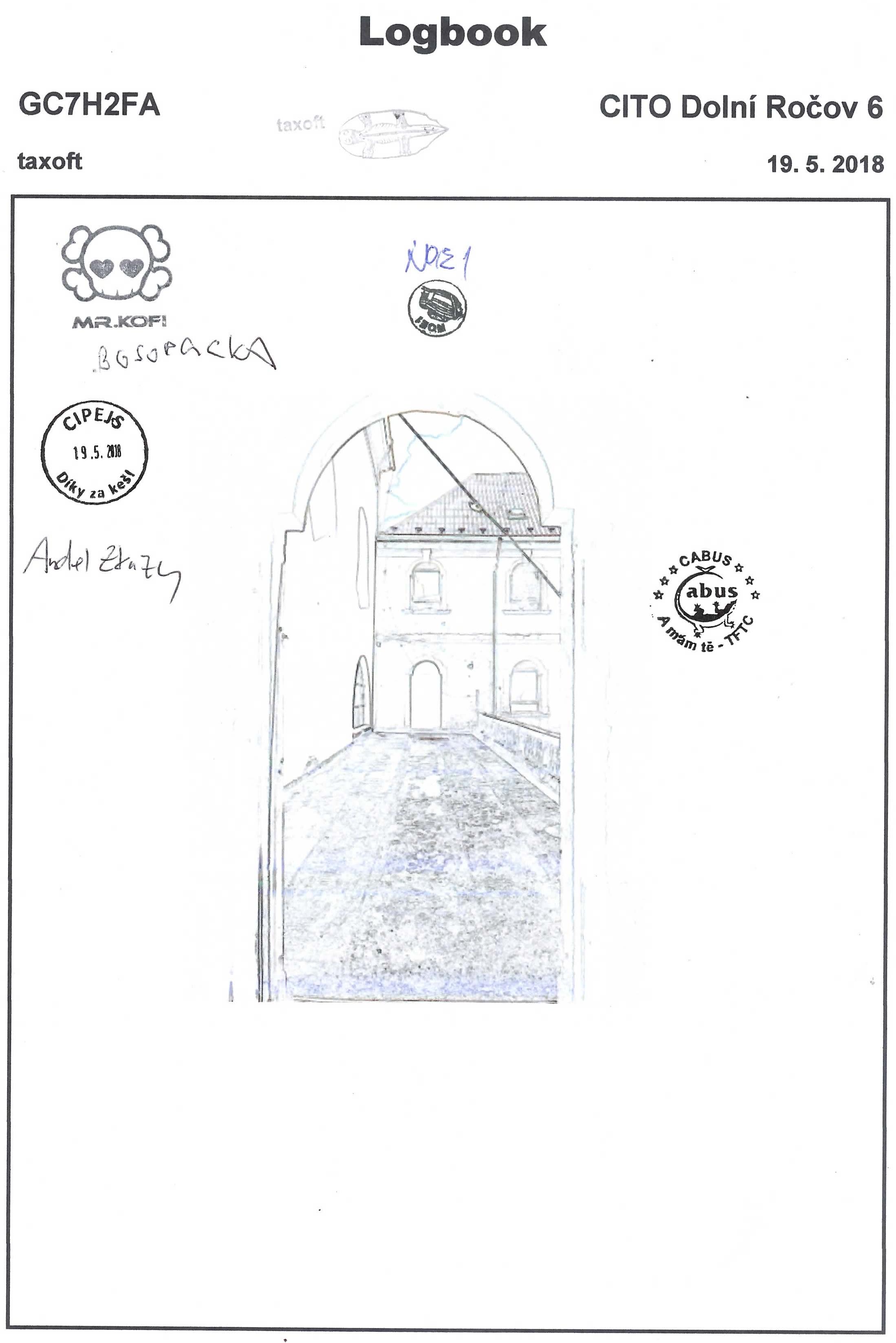 GC7H2FA - CITO Dolní Ročov 6 - logbook