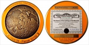 Caching On The Moon Geocoin
