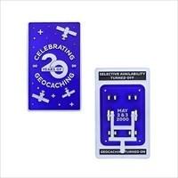 Blue Switch 20th Anniversary Geocoin