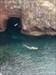 Saindo da gruta, com vigilante nos ares log image