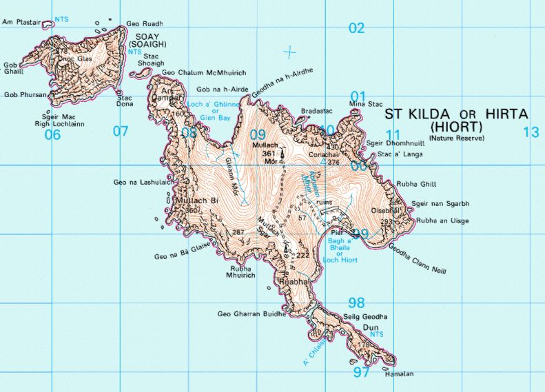 Map of St Kilda. Click here for more info on the islands.