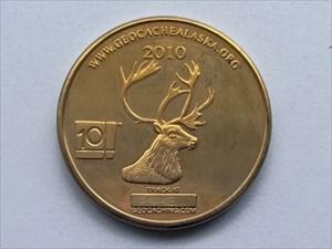 2010 Alaska Geocoin