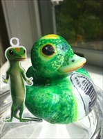 Geico's Mascots Posing for Photo Shoot
