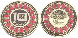 Googol Geocoin - Red / Gold