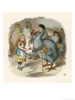 Dodo reikt de prijs aan Alice uit