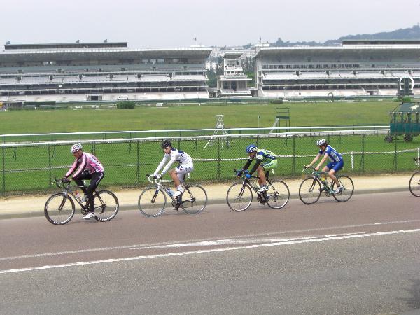 road bikers at longchamps