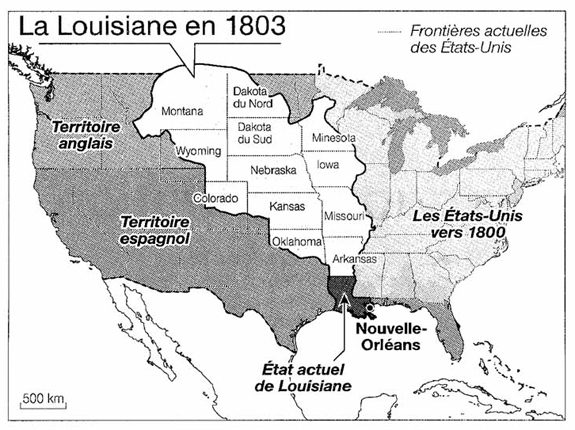 La Louisiane en 1803