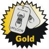 Gold Travel Bug Badge
