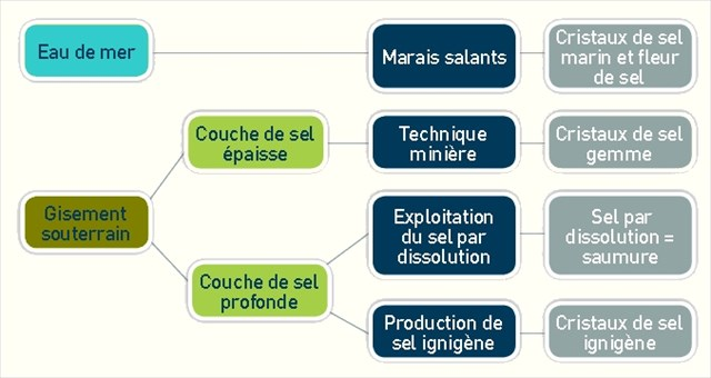 Méthodes de production du sel