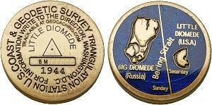 Little Diomede Benchmark Geocoin