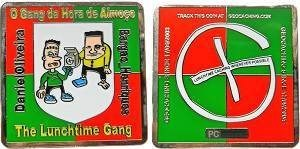 Lunchtime Gang Geocoin