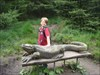 Great woodland sculpture near to cache
