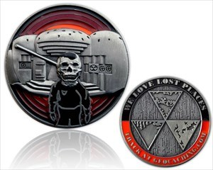 We Love Lost Places Geocoin - Silver Edition RE100