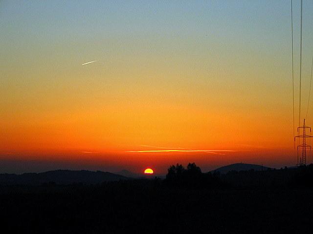 Západ Slunce u cache