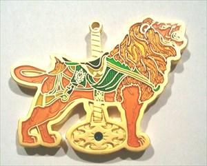 Karussellpferdchen Löwe