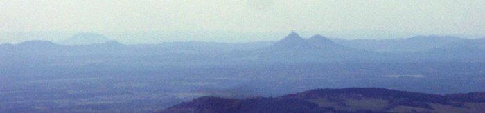 Hora Rip z Krkonoš, 100 km daleko