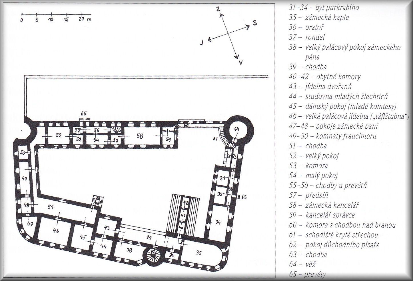 1. patro zámku