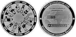 2005 Groundspeak Lackey Geocoin