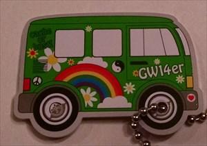3OK's Green Hippy Van