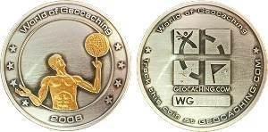 World of Geocaching Geocoin – 2006 Two Tone