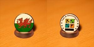 Wales Flag Micro Geocoin