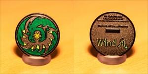 Spiral Dragon Geocoin - Wind