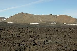 lava-float at the caldera