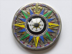 5th Anniversary Compass Rose Geocoin