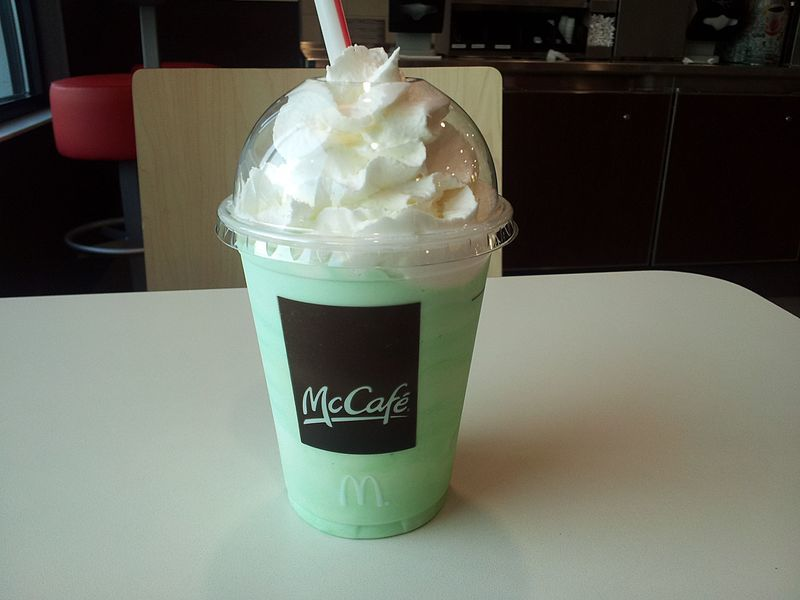 Picture of Shamrock Shake used with permission