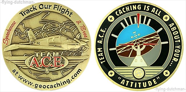 Team Ace Personal Geocoin