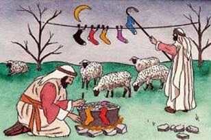 Image result for while shepherds washed their socks by night