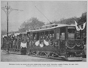 první elektrická dráha na Vinohradech