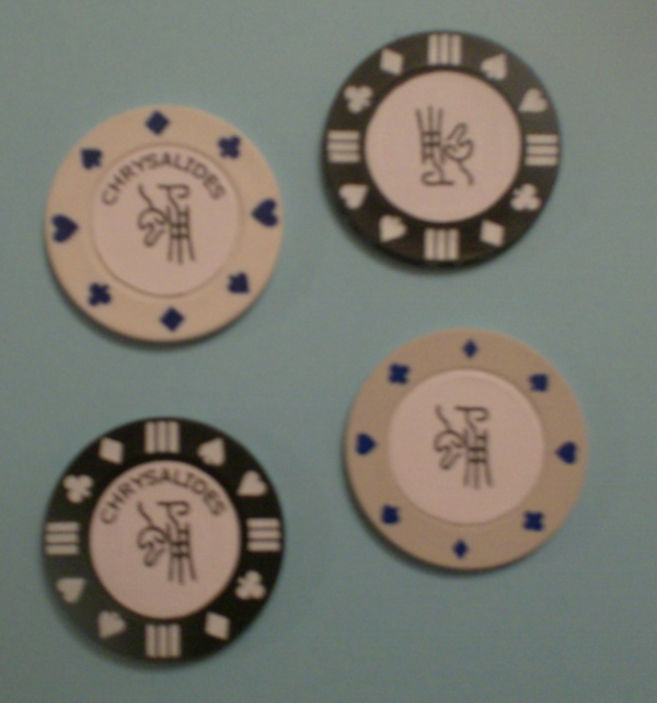 Poker chip valores casino